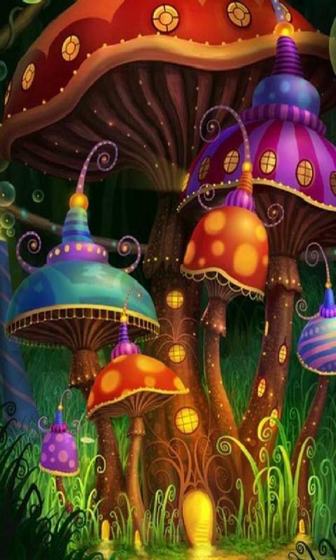 лес, грибы