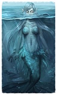 Скачать русалка морских глубин фоновое изображение для телефона