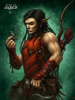 лучник, картинка фэнтези, эльфы картинки, ночной эльф, охотник на демонов