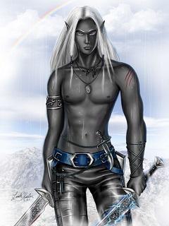 темные эльфы картинки, темный эльф, картинка фэнтези, эльфы картинки, герой разбойник