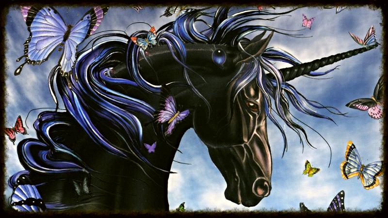 Единорог мифологическая лошадь