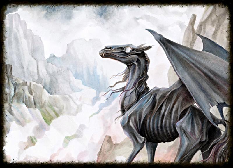 Фестрал скелетообразная лошадь с крыльями