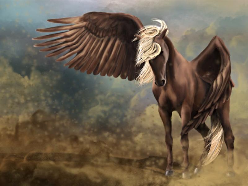 конь крылья